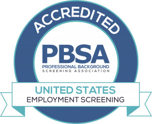 PBSA-Professional Background Association Accreditation Badge—CastleBranch is accredited.